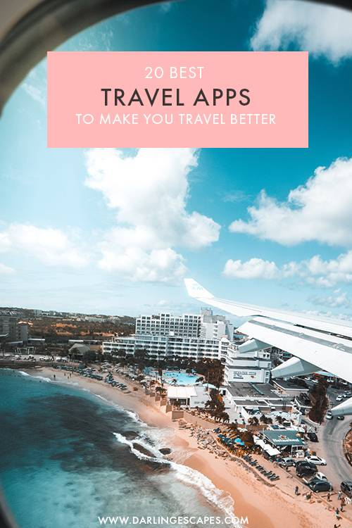 The ultimate list of travel apps to make your trip easier! From restaurant finders for vegans to booking hotels on the go and finding the cheapest flight deals, you'll love these 20 travel apps the next time you plan a trip! #Travel