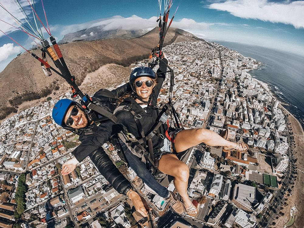 No view is better than a bird's eye view, so go paragliding and grab one of the top instagrammable spots in Cape Town while at it