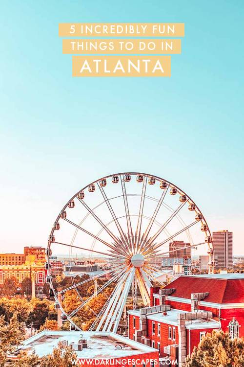 Looking for fun things to do in Atlanta? If you love exploring main attractions but also getting lost and finding secret spots, these travel guide to Atlanta is for you! #Atlanta #USA