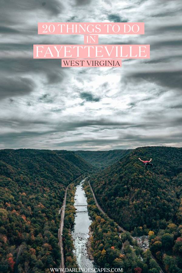 Wondering what to do in Fayetteville, West Virginia? On this guide, we share the best things to do in Fayetteville, including adventurous activities, fun things to do, relaxing sightseeing, Bridge Day, and more! #Fayetteville  #WestVirginia #USA