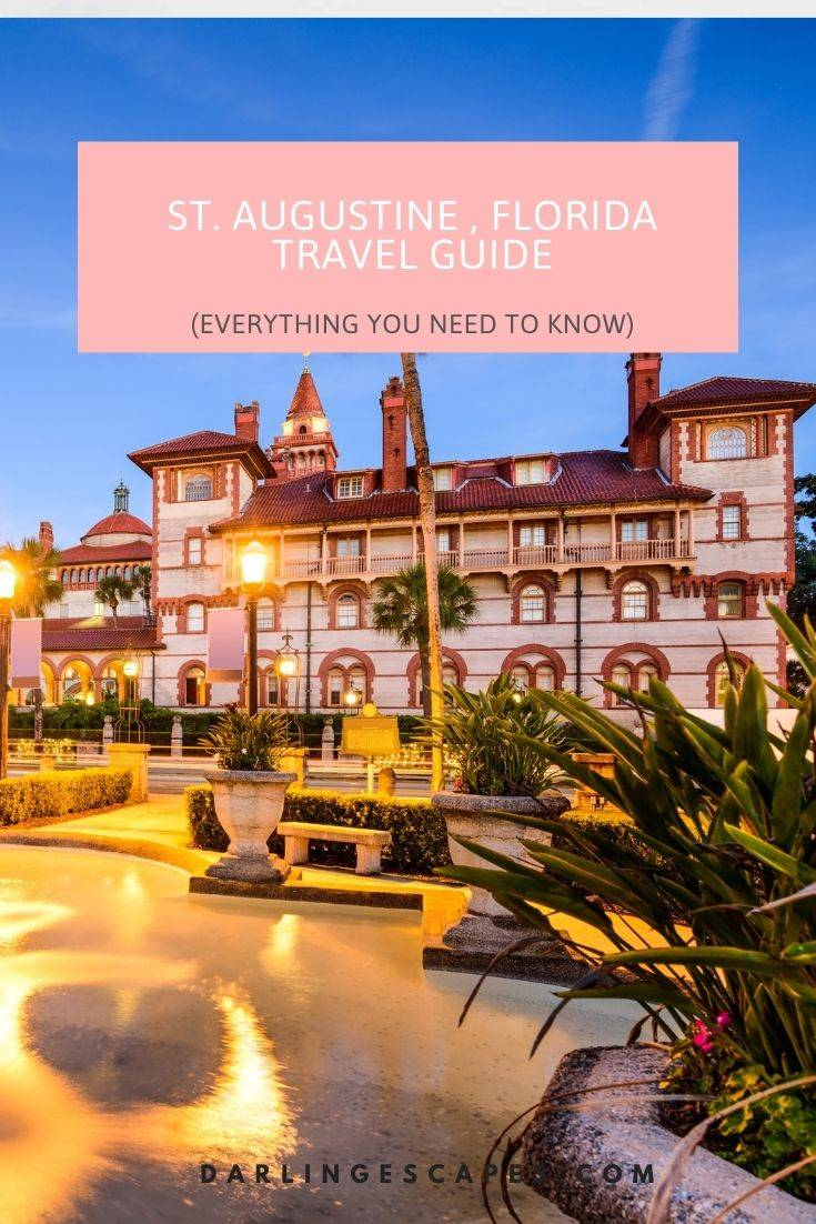 This travel guide to St. Augustine has everything you need including Things to do in St. Augustine Free things to do in St. Augustine Things to do in St. Augustine at Night Fun Things to do in St. Augustine for couples Romantic Things to do in St. Augustine Unique Things to do in St. Augustine. Also, be sure to visit Flagler College